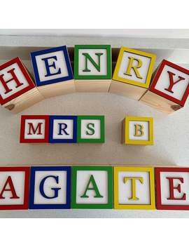 Toy Story Blocks Name Disney Bedroom by Etsy