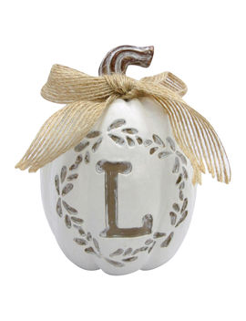 4 In. Monogrampumpkin L4 In. Monogrampumpkin L by At Home