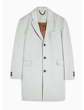 Gray Single Breasted Overcoat by Topman