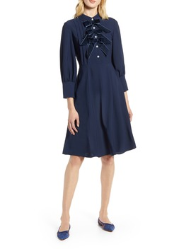 X Atlantic Pacific Bow Detail Fit & Flare Dress by Halogen®
