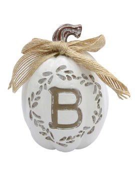 4 In. Monogrampumpkin B4 In. Monogrampumpkin B by At Home