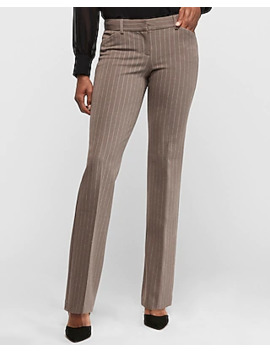 Low Rise Pinstripe Barely Boot Editor Pant by Express