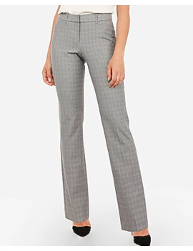 Mid Rise Plaid Barely Boot Curve Pant by Express