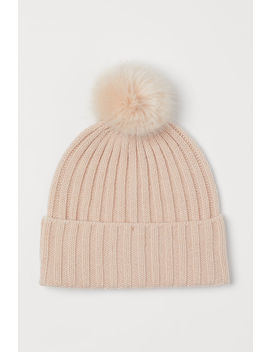 Knit Hat With Pompoms by H&M