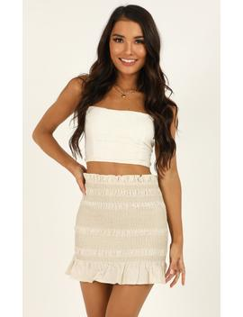 Beachy Nights Skirt In Natural by Showpo Fashion