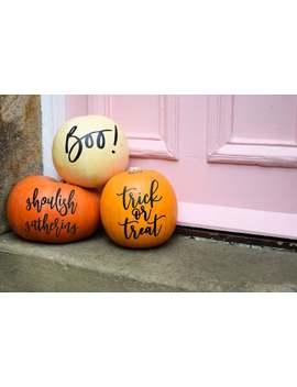 Modern Pumpkin Stickers Halloween Decor by Etsy