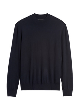 Silk Cotton Cashmere Mock Neck Sweater by Banana Repbulic