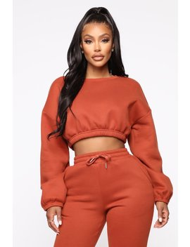 All Chills Top   Rust by Fashion Nova