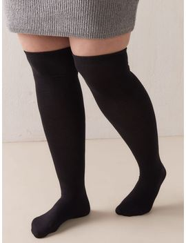 Solid Over The Knee Socks   Addition Elle Solid Over The Knee Socks   Addition Elle by Addition Elle