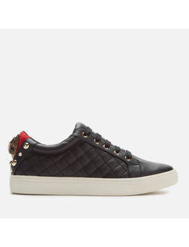 Kurt Geiger London Women's Ludo Leather Quilted Low Top Trainers   Black by Kurt Geiger London