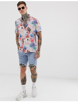 Asos Design Relaxed Vintage Style Shirt Floral Print by Asos Design