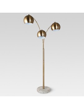 Span 3 Head Metal Globe Floor Lamp   Project 62™ by Project 62