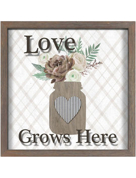 Aw 12 X12 Love Grws Jaraw 12 X12 Love Grws Jar by At Home