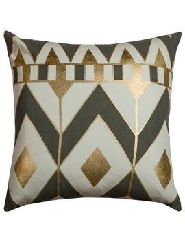 Rachel Kate Geometric Throw Pillow Gray by Rachel Kate