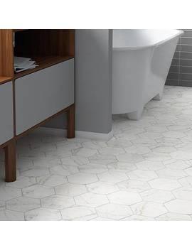 "Karra Hexagon 7"" X 8"" Porcelain Field Tile by Elite Tile"