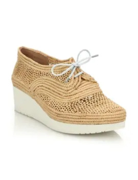 Vicole Raffia Wedge Sneakers by Clergerie