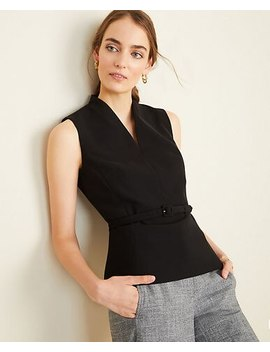 "<A Href=""Https://Www.Anntaylor.Com/The Belted Top In Doubleweave/502353?Sku Id=27839232&Default Color=2222&Price Sort=Desc"" Tabindex=""0"" Data Di Id=""Di Id A87e266d 61445a4f"">The Belted Top In Doubleweave</A> by Ann Taylor"