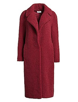 Caron Fuzzy Faux Curly Shearling Coat by A.L.C.