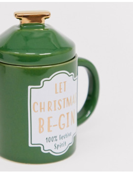 Sass & Belle Let Christmas Be Gin Mug by Sass & Belle