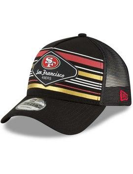 Men's San Francisco 49ers New Era Black Mavericks A Frame 9 Forty Adjustable Snapback Hat by Nfl