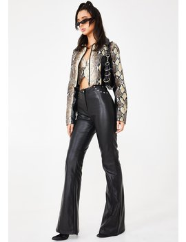 Black Desiree Studded Pants by I Am Gia