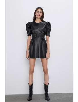 Leather Look Dress by Zara