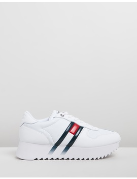 High Cleated Corporate Sneakers by Tommy Hilfiger