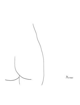 Picasso Line Art   Butt Poster by Sha Mi La B