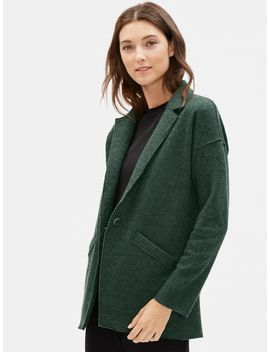 Boiled Wool Slouchy Jacket In Responsible Wool by Eileen Fisher