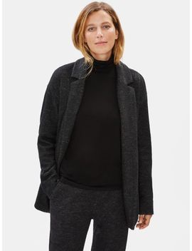 Knitted Wool Notch Collar Jacket by Eileen Fisher
