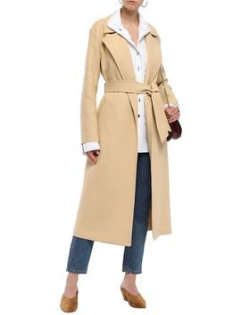 Alyssandra Belted Cotton Blend Twill Trench Coat by Equipment