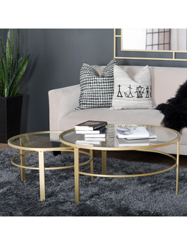 "Studio Designs Home Corbel Modern Round Nesting Coffee Table Set (36"" W & 26""W) by Studio Designs"