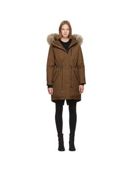 Ssense Exclusive Tan Down Rena Coat by Mackage