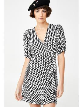 Madame Luxe Polka Dot Dress by Glamorous