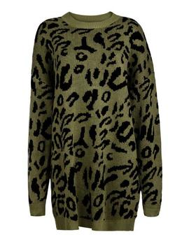 'sophia' Leopard Print Long Sweater (4 Colors) by Goodnight Macaroon