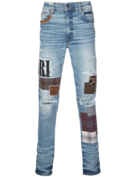 Skinny Patchwork Jeans by Amiri