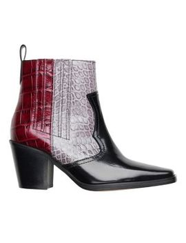 Colourblock Embossed Leather Chelsea Boots by Ganni