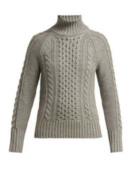 Awakino Cable Knit Cashmere Sweater by Burberry