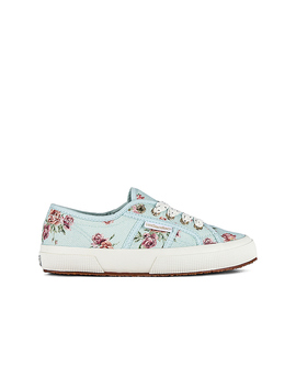 X Love Shack Fancy Classic 2750 Sneaker In Provence Garden Light Blue by Superga