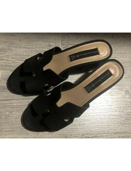 Steven By Steve Madden Foreva Women Black Suede Sandals Block Heels Size 8.5 by Ebay Seller