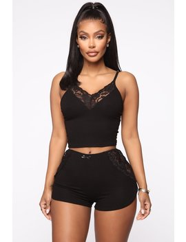 Bedroom Cuddle Pj Set   Black by Fashion Nova