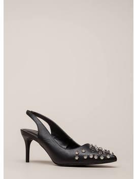Apex Spiky Studded Slingback Heels by Go Jane