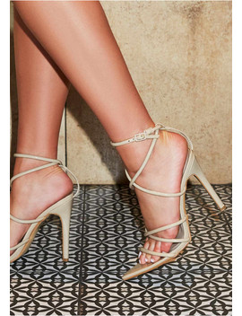 Fleur Nude Pointed Strappy Heels by Missy Empire
