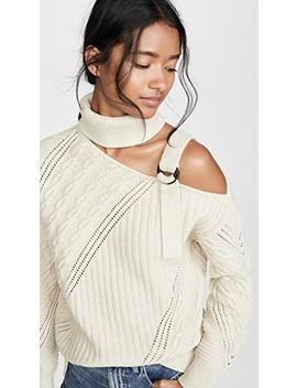 Strapped Wool Asymmetric Sweater by Jonathan Simkhai