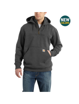 Rain Defender® Paxton Heavyweight Hooded Zip Mock Sweatshirt by Carhartt