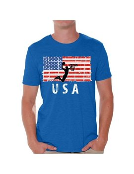 Awkward Styles Basketball Usa Men Shirt I'm American Vintage Usa Flag T Shirt For Men Independence Day Usa Sport Men Tshirt Gifts For Men Usa Basketball T Shirt For Men One Nation by Awkward Styles