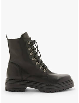 And/Or Rudi Leather Lace Up Hiking Boots, Black by And/Or