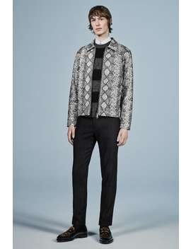 Faux Leather Snakeskin Jacket by Zara