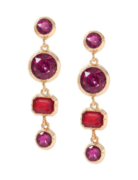 Brilliant Gemstone Multi Drop Earrings by Banana Repbulic