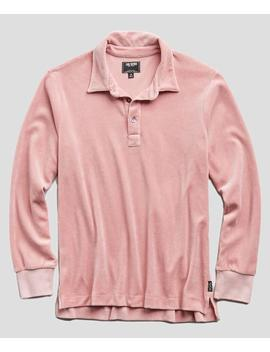 Velour Polo In Pink by Todd Snyder